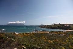 Sardegna costa smeralda Italy. Tavolara Island royalty free stock photography