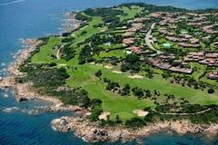 Sardegna-Golf club. Aerial view of Golf club stock images