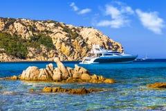 Sardegna island holidays. Italy. Luxury vacation on Sardegna island. Italy royalty free stock photos