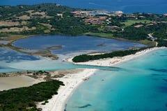 Sardegna-La Cinta-Puntaldia. Aerial view of La Cinta-Puntaldia royalty free stock photography