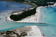 Sardegna-La Cinta-Puntaldia. Aerial view of La Cinta-Puntaldia stock images