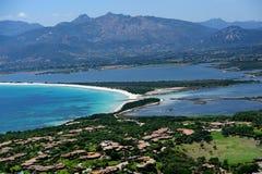 Sardegna-La Cinta-Puntaldia. Aerial view of La Cinta-Puntaldia royalty free stock photo
