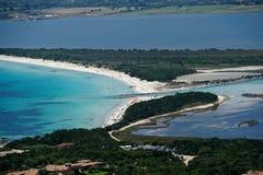 Sardegna-La Cinta-Puntaldia. Aerial view of La Cinta-Puntaldia royalty free stock images