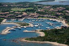 Sardegna-Lu impostu. Aerial view of Lu Impostu stock photos