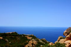 Sardegna outside of Italy. A beautiful summer day in Italy royalty free stock photography