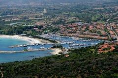 Sardegna-Porto Ottiolu. Aerial view of Porto Ottiolu stock photos