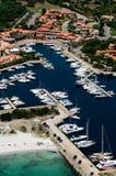 Sardegna-Porto Ottiolu. Aerial view of Porto Ottiolu stock photography