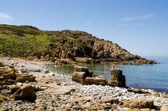 Sardegna, Porto Tramatzu. View of lovely beach near Iglesias city, in Sardinia stock photography