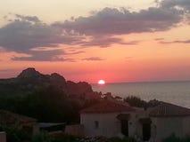 Sardegna zmierzch Zdjęcia Royalty Free