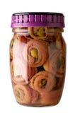 sardela słoik szkła Fotografia Stock