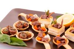 Sardele w ciastach Fotografia Stock