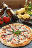 sardeli pizza Obraz Royalty Free