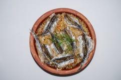 Sardelowi ryż, Hamsi Pilav, Hamsi Gà ¼ veç Obraz Royalty Free