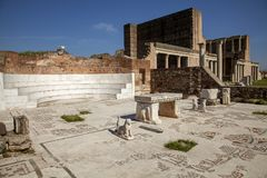 The Gymnasium of Sardes Ancient City. Manisa - Turkey. Sardes,  gymnasium complex of ancient Greek Roman city of Sardis, Manisa,Turkey Stock Photography