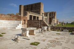 The Gymnasium of Sardes Ancient City. Manisa - Turkey. Sardes,  gymnasium complex of ancient Greek Roman city of Sardis, Manisa,Turkey Stock Photo