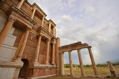 Sardes Manisa, Turkiet royaltyfri fotografi