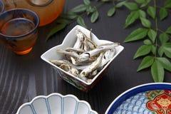 Sardina secada para la acción de sopa japonesa Fotos de archivo libres de regalías