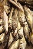 Sardinas sul mercato dell'alimento Fotografia Stock