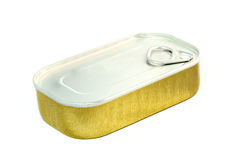 Sardine Can. A can of sardines isolated over white background Royalty Free Stock Images