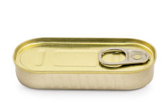 Sardine can isolated on white Stock Photo
