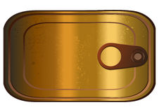 Sardine Can, Vector Illustration. Sardine Can, Vector Illustration isolated on White Background Royalty Free Stock Image