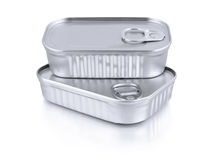 Sardine cans Stock Images
