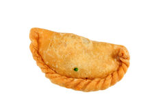 Sardine curry puff. On white background Stock Image