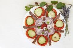 Sardine fillets with  Mediterranean herbs Stock Images