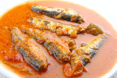 Sardine fish curry. With coconut and tomato Stock Photo