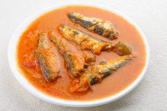 Sardine fish curryAsian style. Sardine fish curry with coconut and tomato Stock Photos