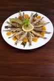 Sardine marinate con le erbe Mediterranee Immagine Stock Libera da Diritti