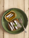 Sardine sandwich Royalty Free Stock Images