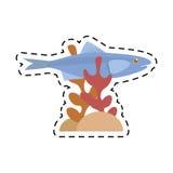 Sardine sea food sealife coral Stock Image