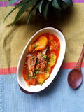 Sardine in Tomatensaus met ananas Royalty-vrije Stock Afbeeldingen