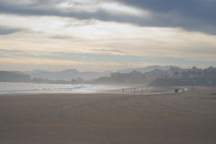 Sardinero beach, winter Royalty Free Stock Images