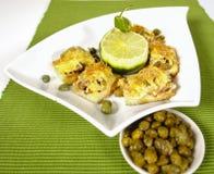 Sardines frites Image libre de droits