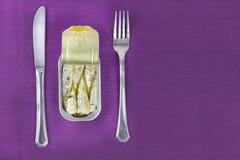Sardines meal Stock Photography