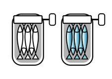Sardines på burk Arkivfoton