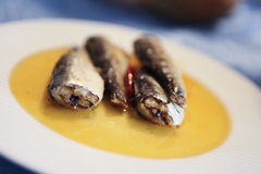 Sardines on a plate Stock Photo