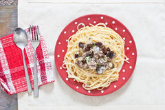 Sardines and spaghetti Royalty Free Stock Images