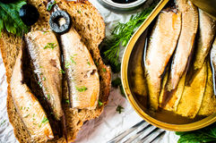 Sardines, sprats Royalty Free Stock Photography