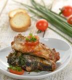 Sardines In Tomato Sauce stock image
