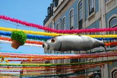 Sardinha e manjericão em Saint populares em Lisboa Imagem de Stock Royalty Free