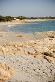 Sardinia. Öde strand Arkivbilder