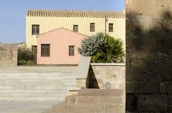 Sardinia övergav byn Royaltyfri Fotografi