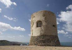 Sardinia. Blockhouse of the seas of the Sardinia Stock Images