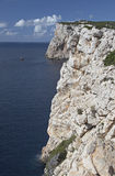 Sardinia. Rocks close to Capo Caccia, Sardinia, Italy royalty free stock photography