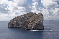 Sardinia. Foradada Island close to Capo Caccia, Sardinia, Italy stock photo