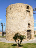 Sardinia. Alghero. The ancient tower La Polvorera (powder keg). was built in the 18th century by the Government of Savoy from Piedmont recently came into Royalty Free Stock Photo