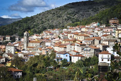 Sardinia. Aritzo Royaltyfri Bild